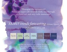 SS2015 trends forecasting for Intimate Apparel - Energize the movement! Focus on super soft weaved cloth, see-through, stylized net and airy...