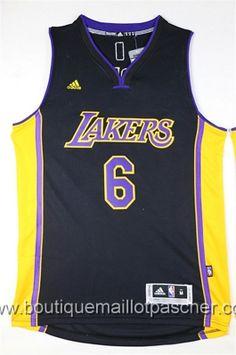 maillot nba pas cher Los Angeles Lakers Clarkson #6 noir nouveaux tissu 22,99€