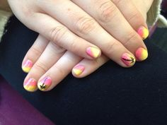 CND Shellac CreamPuff with CND Paradise Additives & CND Shellac in Blackpool detail