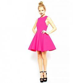 ASOS Premium Bonded Fit and Flare Dress