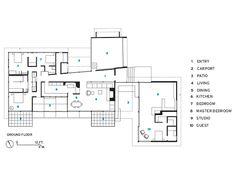 Antigua residencia de Julius Schulman, Los Angeles, CA - estructura original: Raphael Soriano; restauración y adecuación: Lorcan O'Herlihy Architects