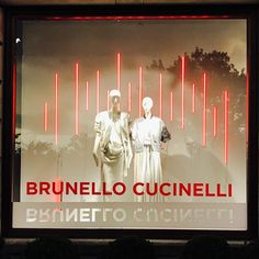 """SAKS FIFTH AVENUE, Chevy Chase Village, Washington, DC, """"Red Light of Fate"""", for Brunello Cucinelli, photo by Daniela Posey, pinned by Ton van der Veer"""