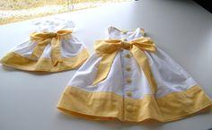 Newborn and toddler dress set, both free downloads!