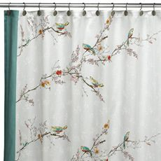 LenoxR Simply FineTM ChirpTM 70 X 72 Fabric Shower Curtain Pretty