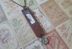 Check out this item in my Etsy shop https://www.etsy.com/listing/233157663/found-object-pendant-necklace-industrial