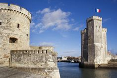 14th-century Saint-Nicolas Tower at entrance of Vieux Port (Old Harbour).