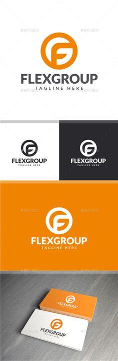 Flex Group - F G Logo: Letter Logo Design Template by yopie. G Logo Design, E Design, Branding Design, Fitness Design, Fitness Logo, Cool Lettering, Lettering Design, Two Letter Logo, Logistics Logo