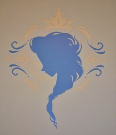 anna and elsa silhouette | silhouettes of Anna and Elsa. I find it interesting Anna's silhouette ...