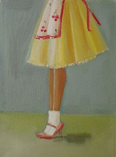 Pastry Chef Original Oil Painting On Paper by janethillstudio