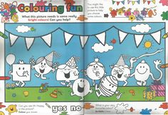 Mr. Men Little Miss Magazine - Beefeater Special Issue - Pages 3 and 4