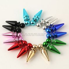 Cheap fashion stud earrings, Buy Quality stud earrings directly from China stud earrings for women Suppliers: off 2 pair girl Bullet brincos 8 color Punk Vintage Stud Earrings For Women love fashion boucle d'oreille femme jewelry Cheap Fashion, Love Fashion, Fashion Tips, Fashion Design, Punk, Ear Piercings, Women's Earrings, Jewelry Accessories, Bling
