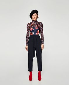 ZARA - WOMAN - LOOSE-FITTING TROUSERS WITH BOW