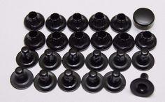 Large Brass Black Oxide Rivets Cap 25/64 W Long Post 12 Sets Lot Of 24Pcs E7640