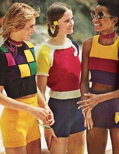 July 1971. Hop into hotpants and tops slashed in color its the knitty way to needle up the news at its abbreviated best.