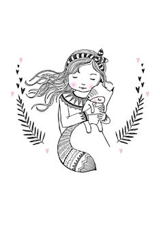 Marieke ten Berge 'Kaart Meisje met Vos' #petitelouise