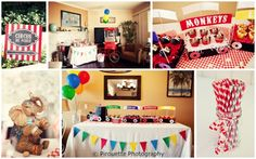Cute circus party baby shower