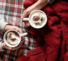 Yum!! Looks so good right now! And so cozy! Look at all those cozy blankets! Makes me want to curl up with a book and hot chocolate or coffee! Fall winter aesthetic, fall decor, winter decor, plaid, flannel, autumn, October, November, December #cute #afflink