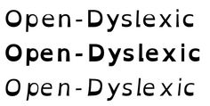 brilliant - fonts for people with dyslexia - small changes in type face make letters easier to recognize