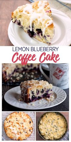 Tender, moist lemon coffee cake loaded with blueberries crowned with a crunchy, sweet crumb topping and drizzled with a tart lemon glaze. Source by barbarabakes Blueberry Desserts, Blueberry Bread, Blueberry Sour Cream Cake, Blueberry Lemon Coffee Cake, Blueberry Crumb Muffins, Blueberry Juice, Vegan Blueberry, Food Cakes, Cupcake Cakes