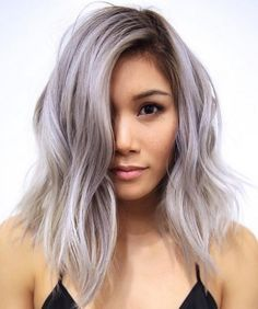 Chic Ombre Lavender Hairstyles With Highlights Trend in 2019 Lavender Hair With Gentle Highlights; Adorable Silver Lavender Hair Trend in 2019 Hair Blond, Ombré Hair, New Hair, Hair Dye, Silver Lavender Hair, Pastel Lavender Hair, Lavender Nails, Short Lilac Hair, Lavender Colour