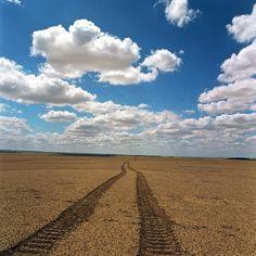 Somewhere at stone desert in Kazakhstan