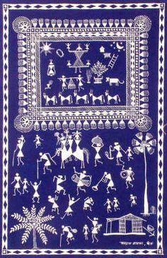 Marriage Procession of the Warlis Madhubani Art, Madhubani Painting, Worli Painting, Doodle Art Drawing, Flower Rangoli, Indian Folk Art, Indian Art Paintings, Hand Painted Rocks, Quilling Art