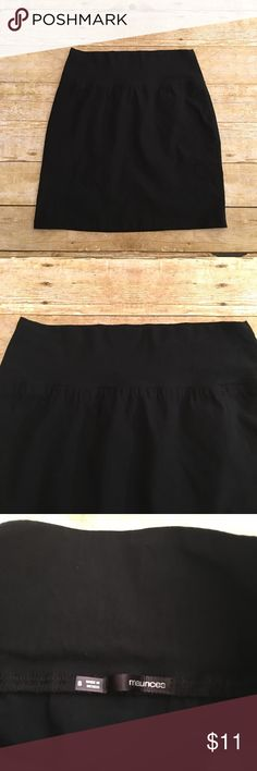 Black Maurices tight midi skirt, small Great condition beautiful black Maurice's skirt, small. No flaws at all, only worn a few times. Waist- approximately 12.5 inches (stretchy), total length- approximately 17.5 inches. Maurices Skirts Midi