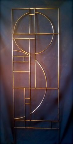 "Trellis.  20"" x 60"".  Design incorporates the Golden Ratio.  Hand made in Iowa."