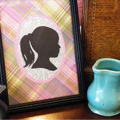 how to use a digital photo to make a silhouette....a possible mother's day gift for pre-k