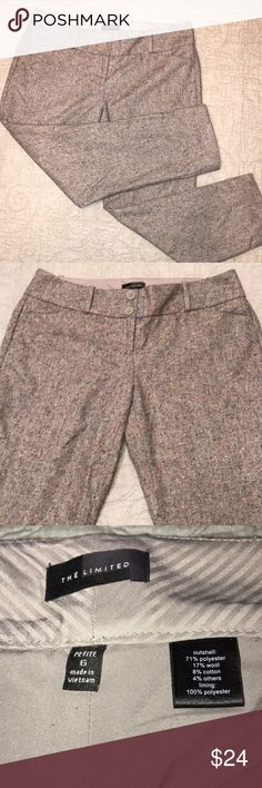 🌺 The Limited Wool Blend Tweed Crop Slacks EUC 🌺 Beautiful gray wool blend slacks. These speckled tweed slacks are lined for maximum comfort. All reasonable offers considered 🌺 The Limited Pants Ankle & Cropped