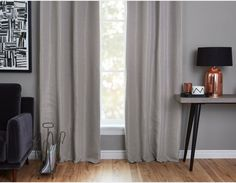 ANDREA - Set of 2 blackout curtain panels - Grey Bay Window Curtains, Kids Curtains, Cool Curtains, Curtain Panels, Panel Curtains, Bedroom Curtains, Blackout Curtains, Old Houses, Kids Bedroom