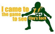 CLAY MATHEWS SACK Packers Game Football T-Shirt SMALL