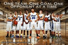 BHS Men's Basketball Team Banner One Team One Goal Mikel's Photography & Design 702-564-7166 www.MikelsPhotography.com