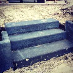 Traptreden van schellevis beton