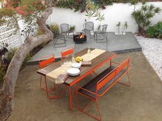 REPAST Table, Bench, and Chair - Modern - Patio - los angeles - by haskell