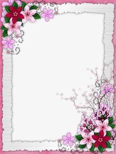 Floral border design PNG and Clipart Frame Border Design, Boarder Designs, Page Borders Design, Flower Backgrounds, Flower Wallpaper, Frame Flores, Flower Frame, Flower Art, Picture Borders