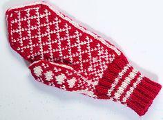 Pariskunnan sydänaiheiset lapaset - PunomoPunomo Christmas Knitting, Diy And Crafts, Gloves, Socks, Caps Hats, Tejidos, Knits, Sock, Stockings