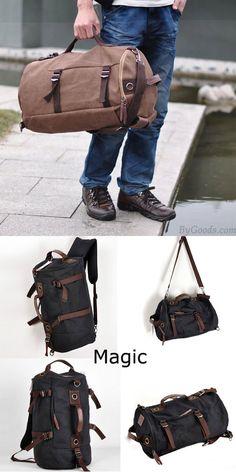 Mode Großraum Zylindrischen Segeltuch Reise Rucksäcke #bag #Backpack #canvas Boys Backpacks, School Backpacks, Travel Backpack, Backpack Bags, Retro, Messenger Bag, Satchel, Shoulder Bag, Student