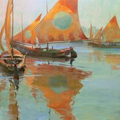 "Kenn Backhaus - ""Fishing Boats on the Chioggia"" ( A Tribute to Edgar Payne) 