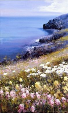 Flowered bluff above the sea... Isole Eolie by Lucía Sarto