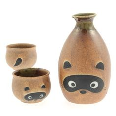 Raccoon Sake Set, $28, now featured on Fab.