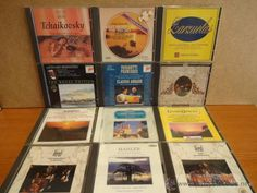 LOTE 12 CDS MÚSICA CLÁSICA. DISCOS DE BUENA CALIDAD - CAJAS USADAS. OCASIÓN.