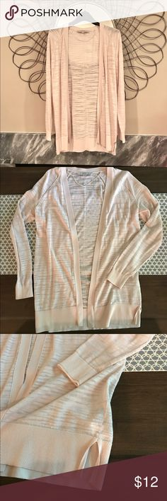 """AnnTaylor Loft Cardigan S AnnTaylor Loft summer cardigan in blush, new without tags 18"""" wide under arm, 28"""" long Anntaylor Loft Sweaters Cardigans"""