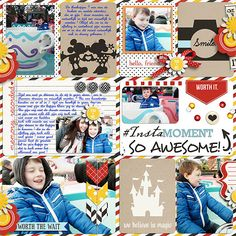 Disney Project Life page created by melaniedesigns featuring Project Mouse by Sahlin Studio & Britt-ish Designs