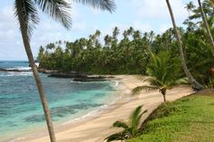 Beach on the island of Sao Tome, one of the islands of Sao Tome and Principe