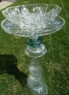 Just Some Recycled Glass - Now Bird Bath/table - Murano Glass Forums