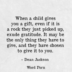 Gratitude to Word Porn #wordporn #giftfromachild