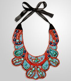 Zanzibar bib necklace $30. If perfection came in seed beads, this is it.