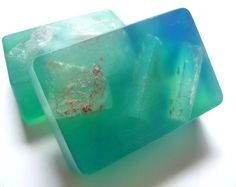 Blue Raspberry Scented Transparent Soap by Mylana on Etsy, $4.50