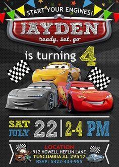 Disney cars diy etsy New ideas Disney Cars Birthday, Disney Cars Party, Cars Birthday Parties, Birthday Diy, Cake Birthday, Happy Birthday, Cars Birthday Invitations, Disney Invitations, Cars Party Foods
